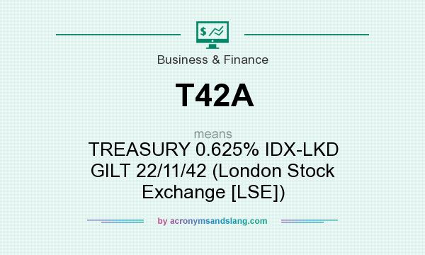 What does T42A mean? It stands for TREASURY 0.625% IDX-LKD GILT 22/11/42 (London Stock Exchange [LSE])