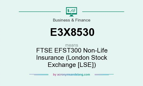 What does E3X8530 mean? It stands for FTSE EFST300 Non-Life Insurance (London Stock Exchange [LSE])