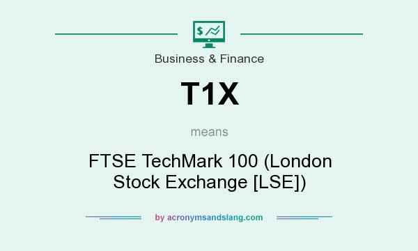 What does T1X mean? It stands for FTSE TechMark 100 (London Stock Exchange [LSE])