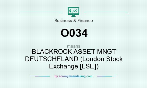 What does O034 mean? It stands for BLACKROCK ASSET MNGT DEUTSCHELAND (London Stock Exchange [LSE])