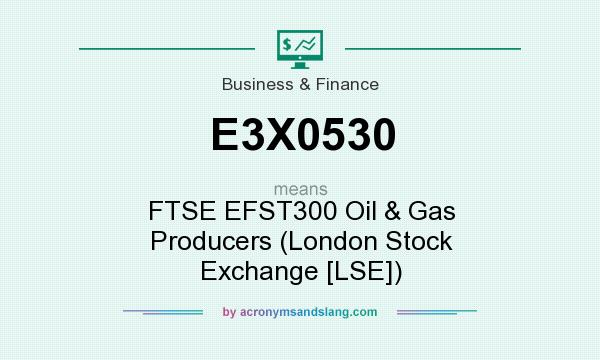 What does E3X0530 mean? It stands for FTSE EFST300 Oil & Gas Producers (London Stock Exchange [LSE])