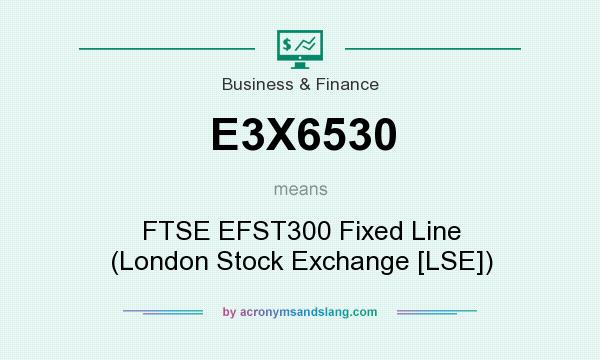 What does E3X6530 mean? It stands for FTSE EFST300 Fixed Line (London Stock Exchange [LSE])