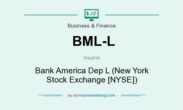 What does BML-L mean? It stands for Bank America Dep L (New York Stock Exchange [NYSE])