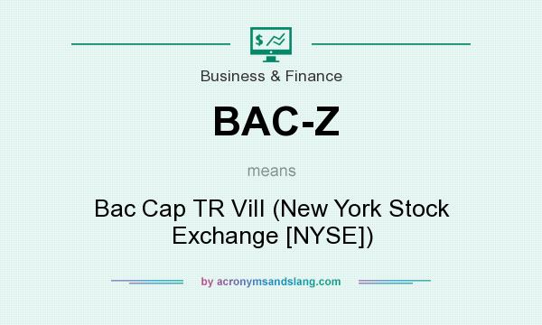 What does BAC-Z mean? It stands for Bac Cap TR ViII (New York Stock Exchange [NYSE])