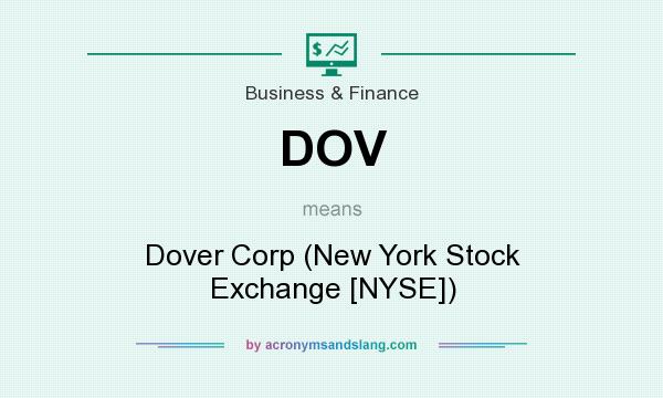 What does DOV mean? It stands for Dover Corp (New York Stock Exchange [NYSE])