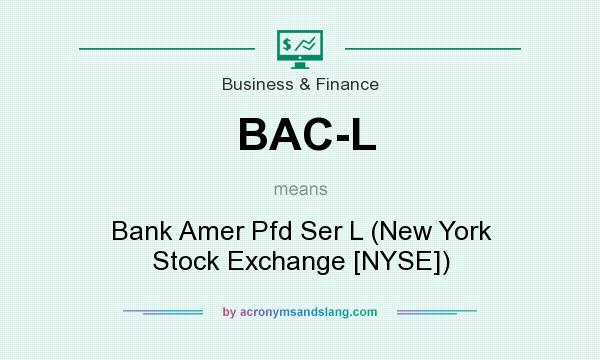 What does BAC-L mean? It stands for Bank Amer Pfd Ser L (New York Stock Exchange [NYSE])