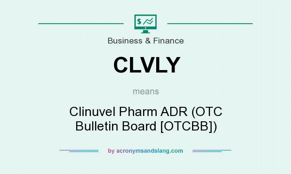 What does CLVLY mean? It stands for Clinuvel Pharm ADR (OTC Bulletin Board [OTCBB])