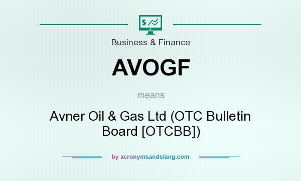 What does AVOGF mean? It stands for Avner Oil & Gas Ltd (OTC Bulletin Board [OTCBB])