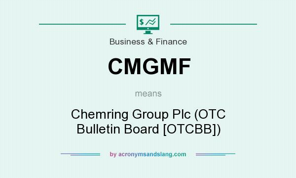 What does CMGMF mean? It stands for Chemring Group Plc (OTC Bulletin Board [OTCBB])