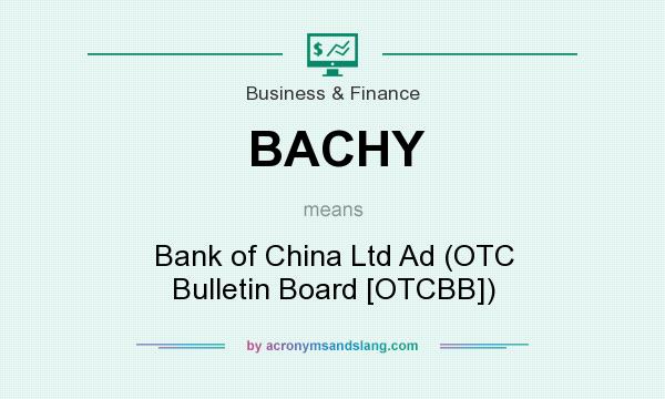 What does BACHY mean? It stands for Bank of China Ltd Ad (OTC Bulletin Board [OTCBB])