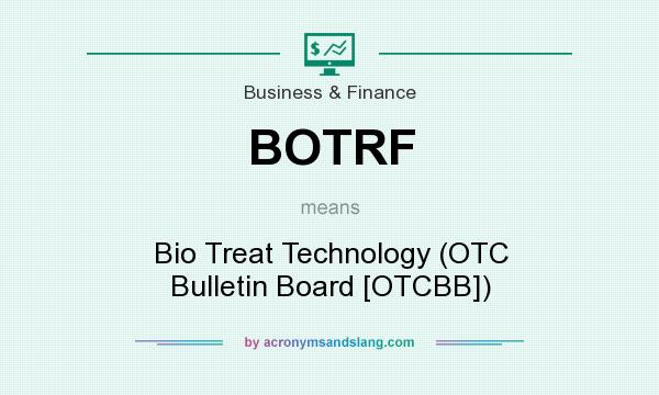 What does BOTRF mean? It stands for Bio Treat Technology (OTC Bulletin Board [OTCBB])