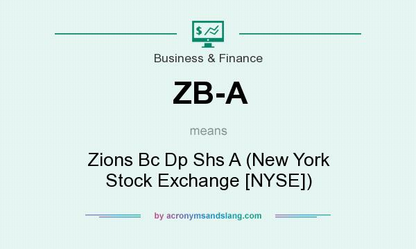 What does ZB-A mean? It stands for Zions Bc Dp Shs A (New York Stock Exchange [NYSE])