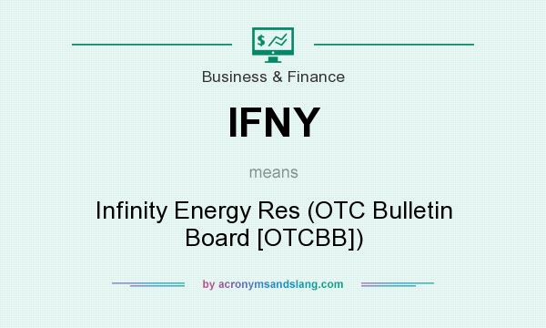 What does IFNY mean? It stands for Infinity Energy Res (OTC Bulletin Board [OTCBB])