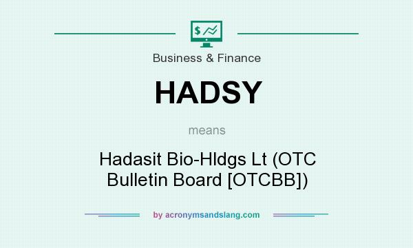What does HADSY mean? It stands for Hadasit Bio-Hldgs Lt (OTC Bulletin Board [OTCBB])