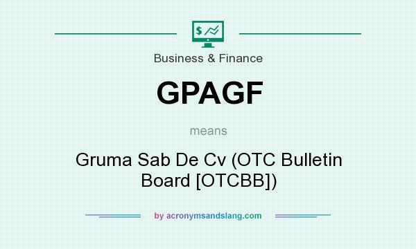 What does GPAGF mean? It stands for Gruma Sab De Cv (OTC Bulletin Board [OTCBB])
