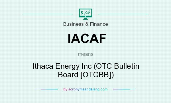 What does IACAF mean? It stands for Ithaca Energy Inc (OTC Bulletin Board [OTCBB])
