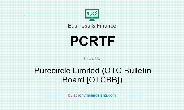What does PCRTF mean? It stands for Purecircle Limited (OTC Bulletin Board [OTCBB])