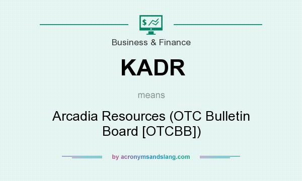 What does KADR mean? It stands for Arcadia Resources (OTC Bulletin Board [OTCBB])