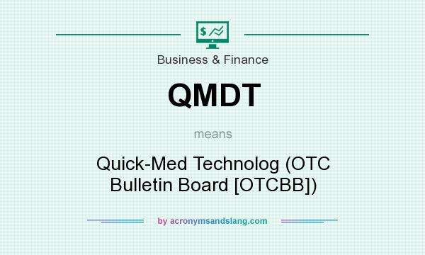 What does QMDT mean? It stands for Quick-Med Technolog (OTC Bulletin Board [OTCBB])