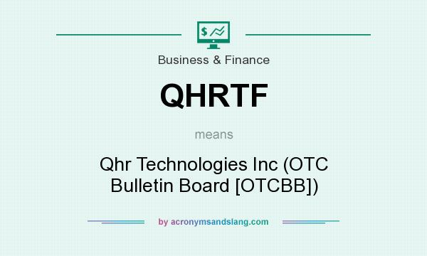 What does QHRTF mean? It stands for Qhr Technologies Inc (OTC Bulletin Board [OTCBB])