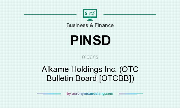 What does PINSD mean? It stands for Alkame Holdings Inc. (OTC Bulletin Board [OTCBB])