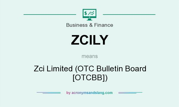 What does ZCILY mean? It stands for Zci Limited (OTC Bulletin Board [OTCBB])