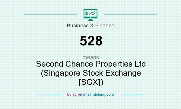 What does 528 mean? It stands for Second Chance Properties Ltd (Singapore Stock Exchange [SGX])