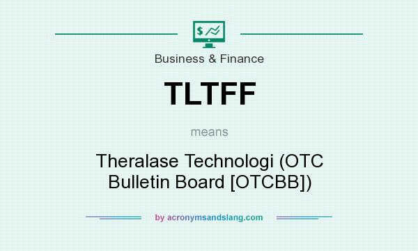What does TLTFF mean? It stands for Theralase Technologi (OTC Bulletin Board [OTCBB])