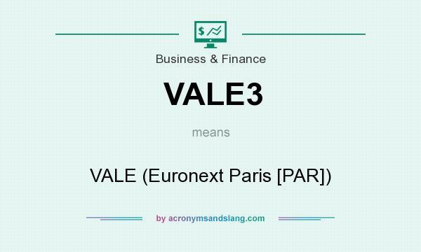 What does VALE3 mean? It stands for VALE (Euronext Paris [PAR])