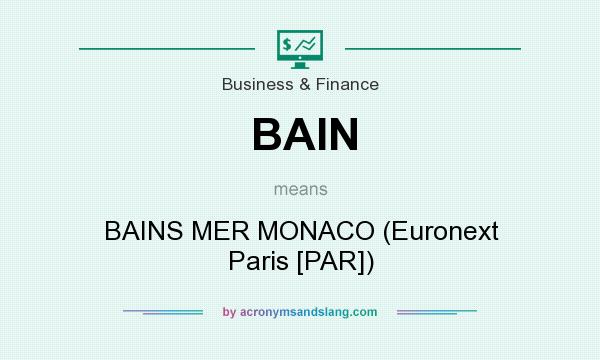 What does BAIN mean? It stands for BAINS MER MONACO (Euronext Paris [PAR])