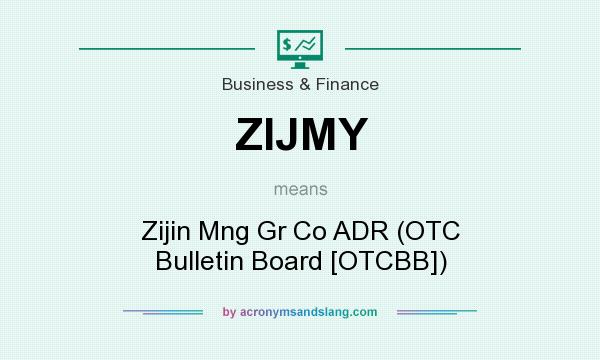 What does ZIJMY mean? It stands for Zijin Mng Gr Co ADR (OTC Bulletin Board [OTCBB])