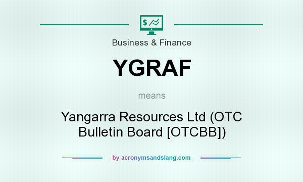 What does YGRAF mean? It stands for Yangarra Resources Ltd (OTC Bulletin Board [OTCBB])