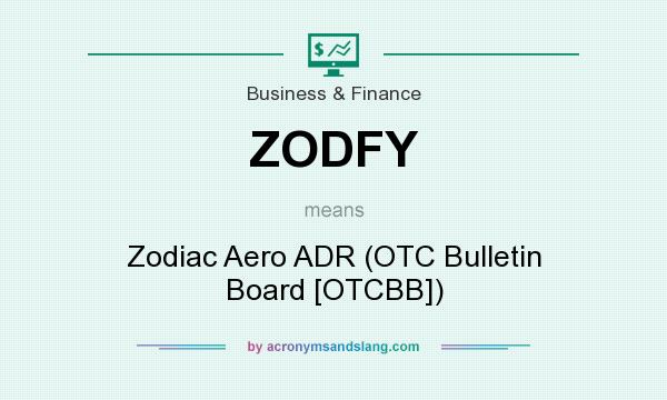 What does ZODFY mean? It stands for Zodiac Aero ADR (OTC Bulletin Board [OTCBB])