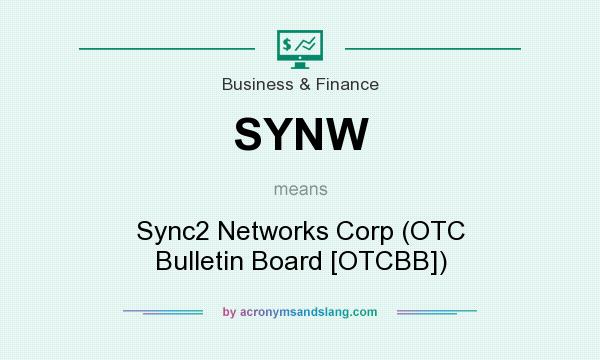 What does SYNW mean? It stands for Sync2 Networks Corp (OTC Bulletin Board [OTCBB])