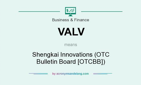 What does VALV mean? It stands for Shengkai Innovations (OTC Bulletin Board [OTCBB])