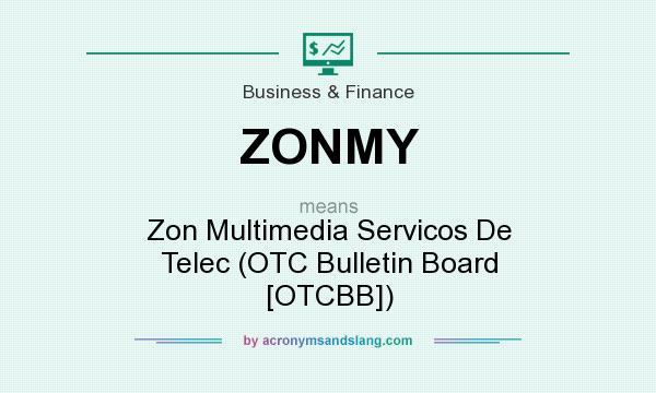 What does ZONMY mean? It stands for Zon Multimedia Servicos De Telec (OTC Bulletin Board [OTCBB])