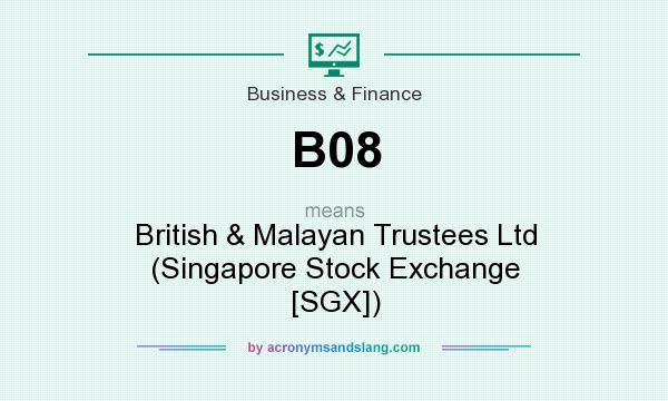 What does B08 mean? It stands for British & Malayan Trustees Ltd (Singapore Stock Exchange [SGX])