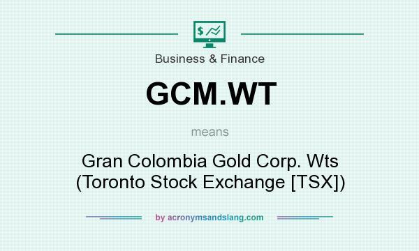 What does GCM WT mean? - Definition of GCM WT - GCM WT