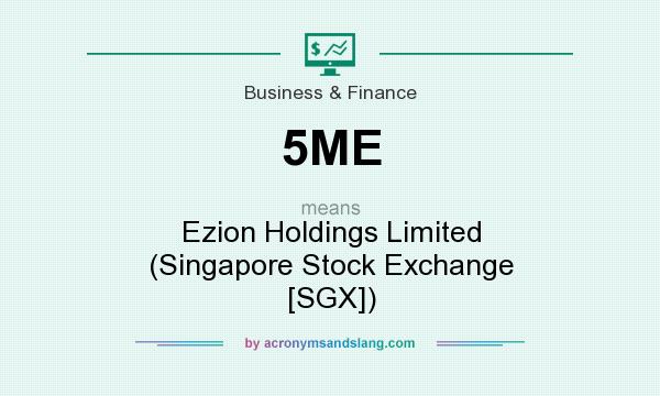 What does 5ME mean? It stands for Ezion Holdings Limited (Singapore Stock Exchange [SGX])