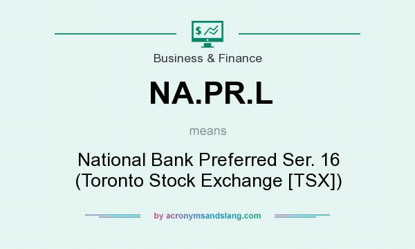 What does NA.PR.L mean? It stands for National Bank Preferred Ser. 16 (Toronto Stock Exchange [TSX])