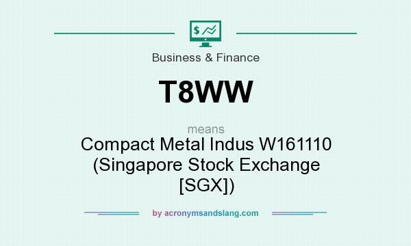 What does T8WW mean? It stands for Compact Metal Indus W161110 (Singapore Stock Exchange [SGX])