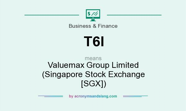 What does T6I mean? It stands for Valuemax Group Limited (Singapore Stock Exchange [SGX])