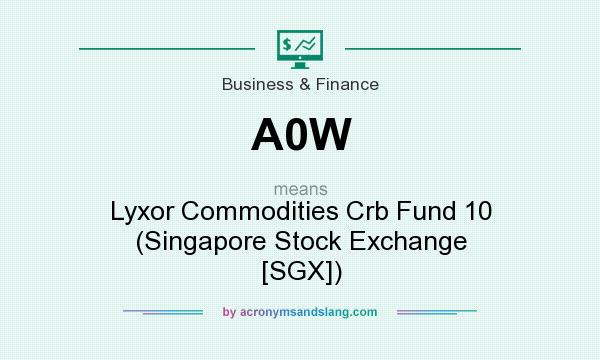 What does A0W mean? It stands for Lyxor Commodities Crb Fund 10 (Singapore Stock Exchange [SGX])