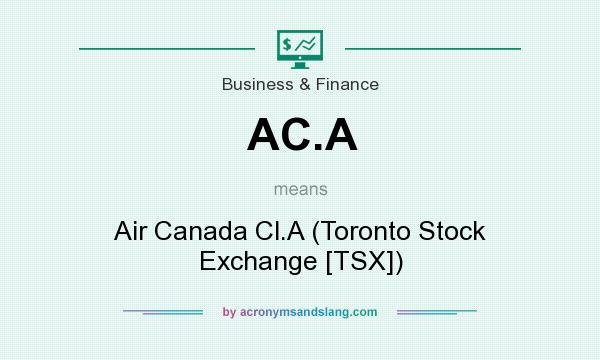What does AC.A mean? It stands for Air Canada Cl.A (Toronto Stock Exchange [TSX])