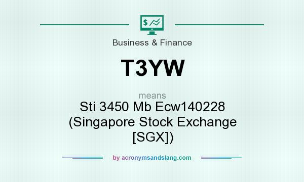 What does T3YW mean? It stands for Sti 3450 Mb Ecw140228 (Singapore Stock Exchange [SGX])