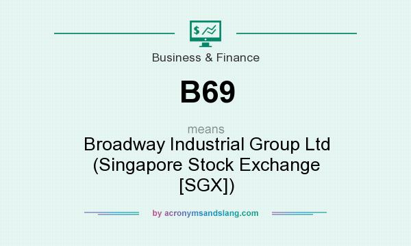 What does B69 mean? It stands for Broadway Industrial Group Ltd (Singapore Stock Exchange [SGX])