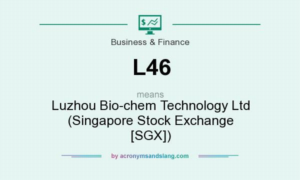 What does L46 mean? It stands for Luzhou Bio-chem Technology Ltd (Singapore Stock Exchange [SGX])
