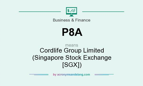 What does P8A mean? It stands for Cordlife Group Limited (Singapore Stock Exchange [SGX])