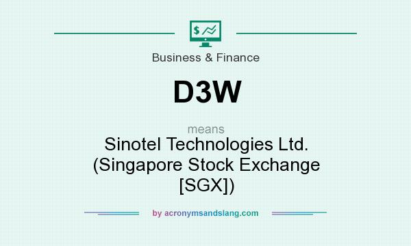 What does D3W mean? It stands for Sinotel Technologies Ltd. (Singapore Stock Exchange [SGX])