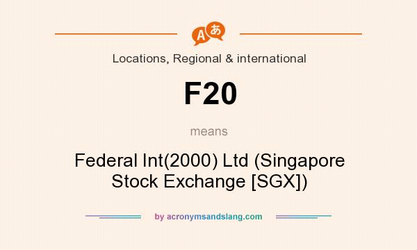 What does F20 mean? It stands for Federal Int(2000) Ltd (Singapore Stock Exchange [SGX])